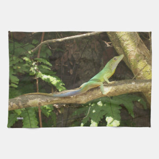 Jamaican Green Lizard Kitchen Towel