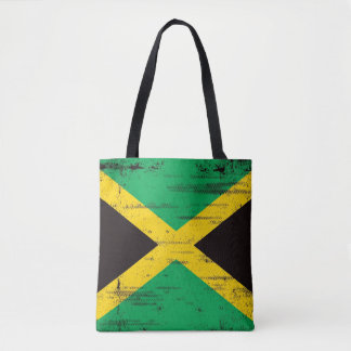Jamaican Grunge Flag Tote Bag