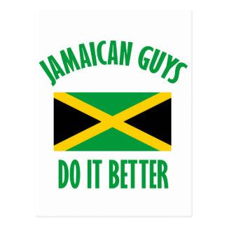 Jamaican guys DESIGNS Postcard