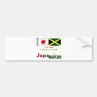 jamaican-japanese bumper sticker