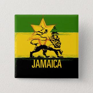 Jamaican Lion of Judah Button