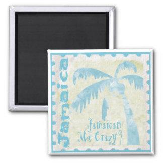Jamaican Me Crazy Square Magnet
