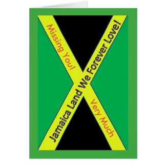 Jamaican Missing You Card