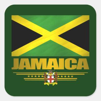 Jamaican Pride Drink Coasters Square Sticker