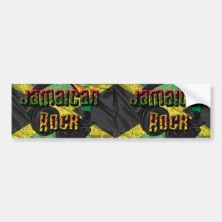 Jamaican Rock Flag Range Bumper Sticker