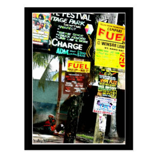Jamaican Street Scene Postcard