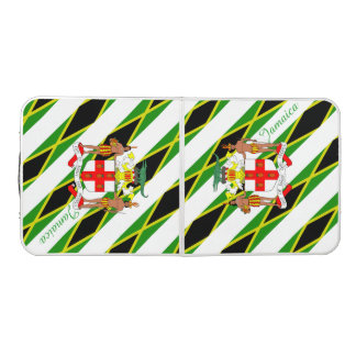 Jamaican stripes flag beer pong table