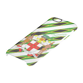 Jamaican stripes flag clear iPhone 6/6S case