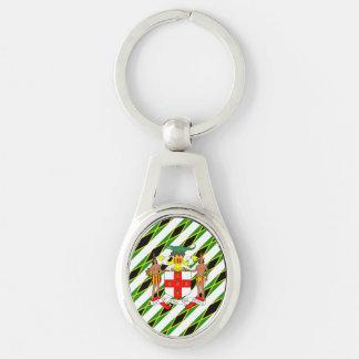 Jamaican stripes flag keychain