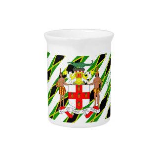 Jamaican stripes flag pitcher