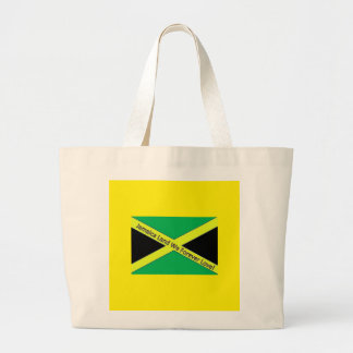 Jamaican This and Jamaican That! Large Tote Bag
