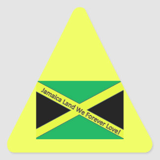 Jamaican This and Jamaican That! Triangle Sticker