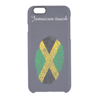 Jamaican touch fingerprint flag clear iPhone 6/6S case