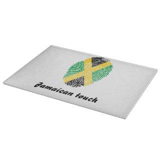 Jamaican touch fingerprint flag cutting board