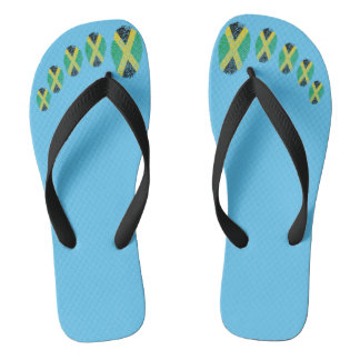 Jamaican touch fingerprint flag flip flops
