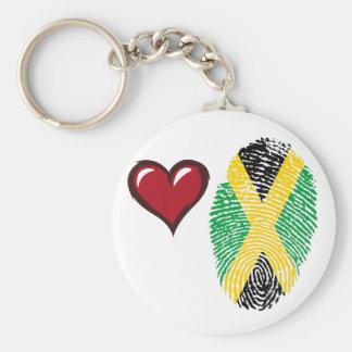 Jamaican touch fingerprint flag keychain