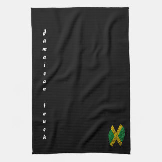 Jamaican touch fingerprint flag kitchen towel