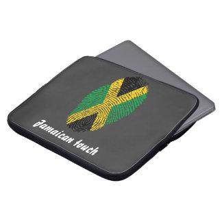 Jamaican touch fingerprint flag laptop sleeve