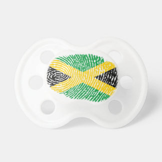 Jamaican touch fingerprint flag pacifiers