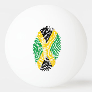 Jamaican touch fingerprint flag ping pong ball