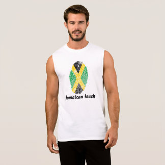 Jamaican touch fingerprint flag sleeveless shirt