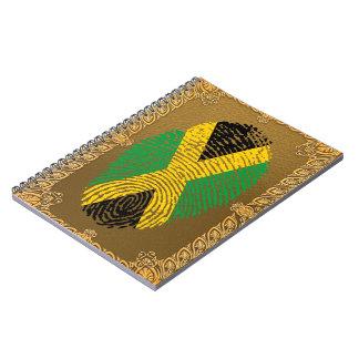 Jamaican touch fingerprint flag spiral note books