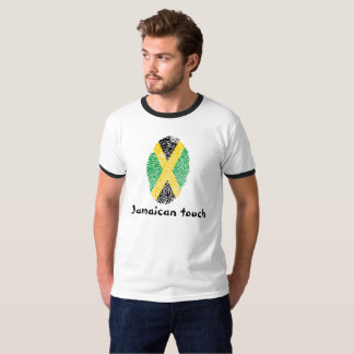 Jamaican touch fingerprint flag T-Shirt
