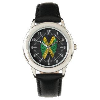 Jamaican touch fingerprint flag watch