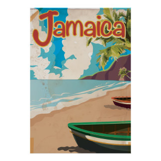 Jamaican vintage holiday poster