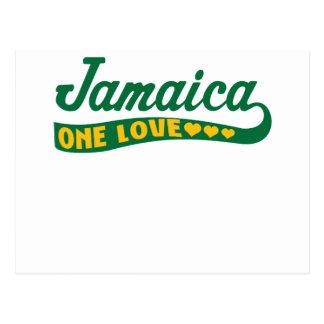 jamaicaonelove postcard