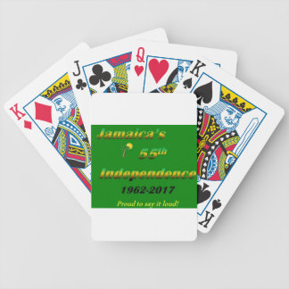 Jamaica's  55th Independence (Green) Bicycle Playing Cards