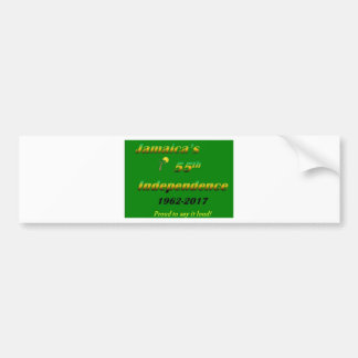 Jamaica's  55th Independence (Green) Bumper Sticker