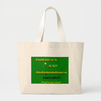 Jamaica's  55th Independence (Green) Large Tote Bag