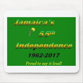 Jamaica's  55th Independence (Green) Mouse Pad