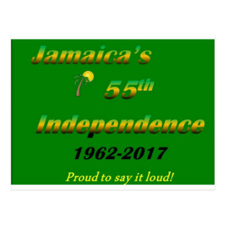 Jamaica's  55th Independence (Green) Postcard