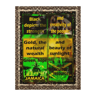 Jamaica's Flag Colors Definition Wood Wall Art