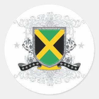 jamaicashield2 classic round sticker