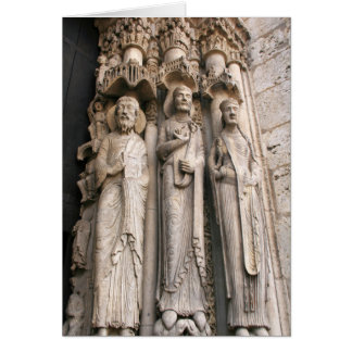 Jamb Statues Chartres Card