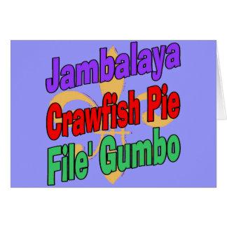 Jambalaya Crawfish Pie Cajun Dish Card