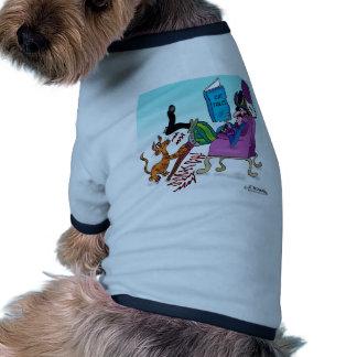 Jambe de cheville de pirate rayant le courrier manteaux pour animaux domestiques