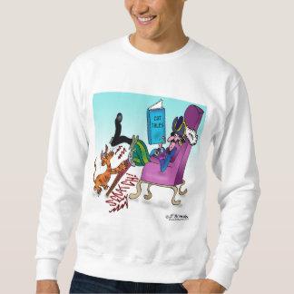Jambe de cheville de pirate rayant le courrier sweatshirt