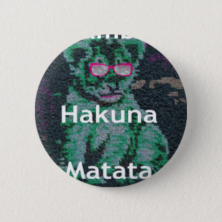 Jambo lion cub hakuna matata 2 inch round button