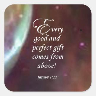 James 1:17 square sticker