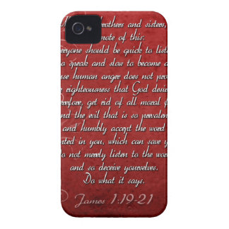 James 1:19 Scripture Gift iPhone 4 Case