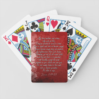 James 1:19 Scripture Gift Poker Deck
