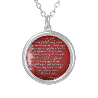 James 1:19 Scripture Gift Silver Plated Necklace