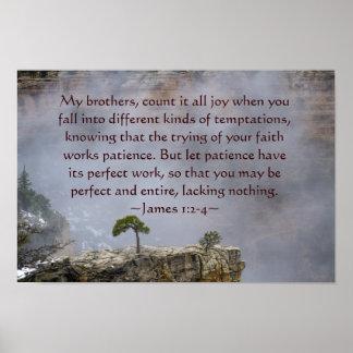 James 1:2-4 Poster