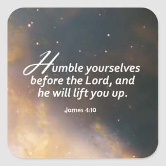 James 4:10 square sticker