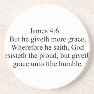 James 4:6 coaster