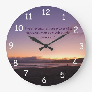 James 5:16 large clock